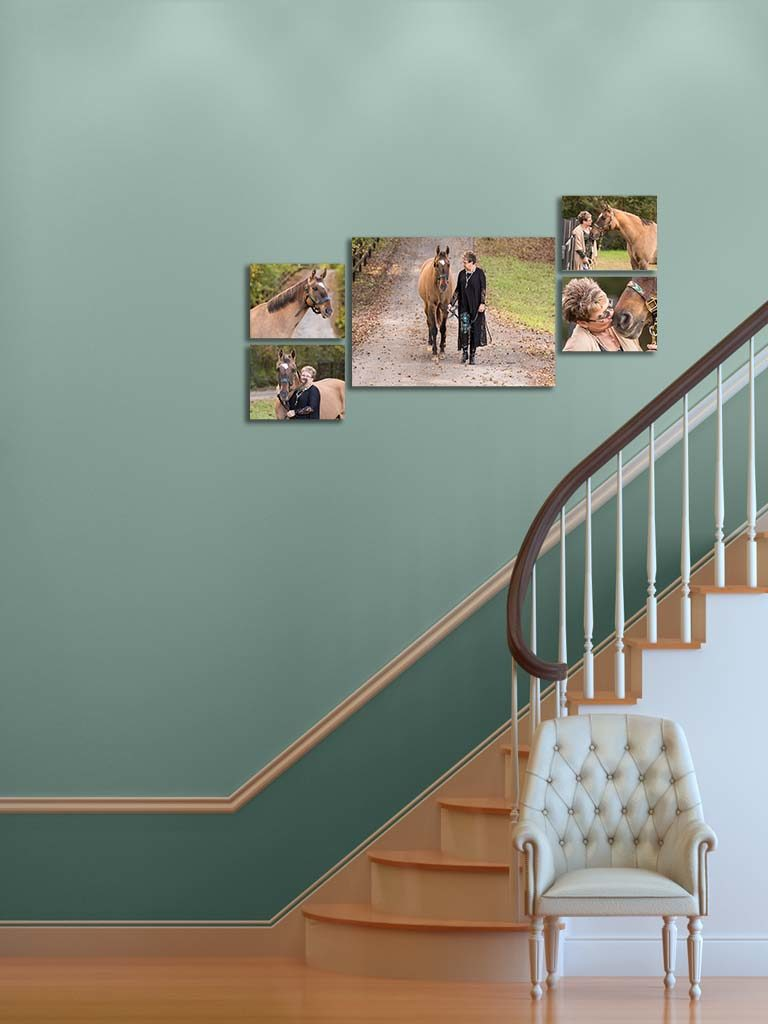 Canvas Gallery Collection of Images on Staircase