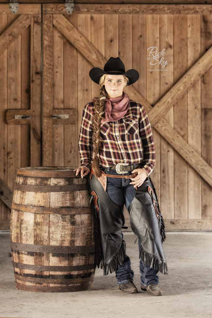 Lifestyle Image of Cowgirl for Commercial Equine Advertising