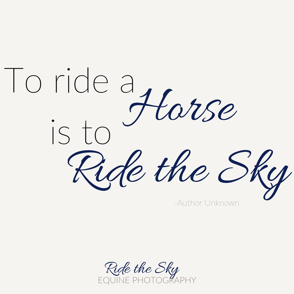 To Ride a Horse is To Ride the Sky Quote