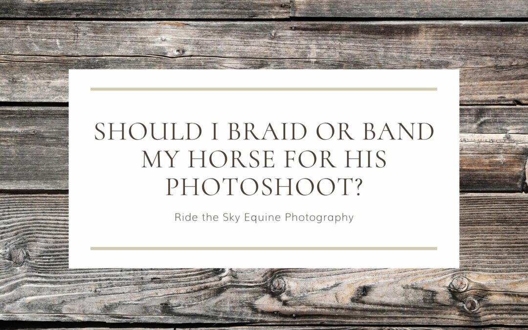 Should I braid or band my horse for his photoshoot?