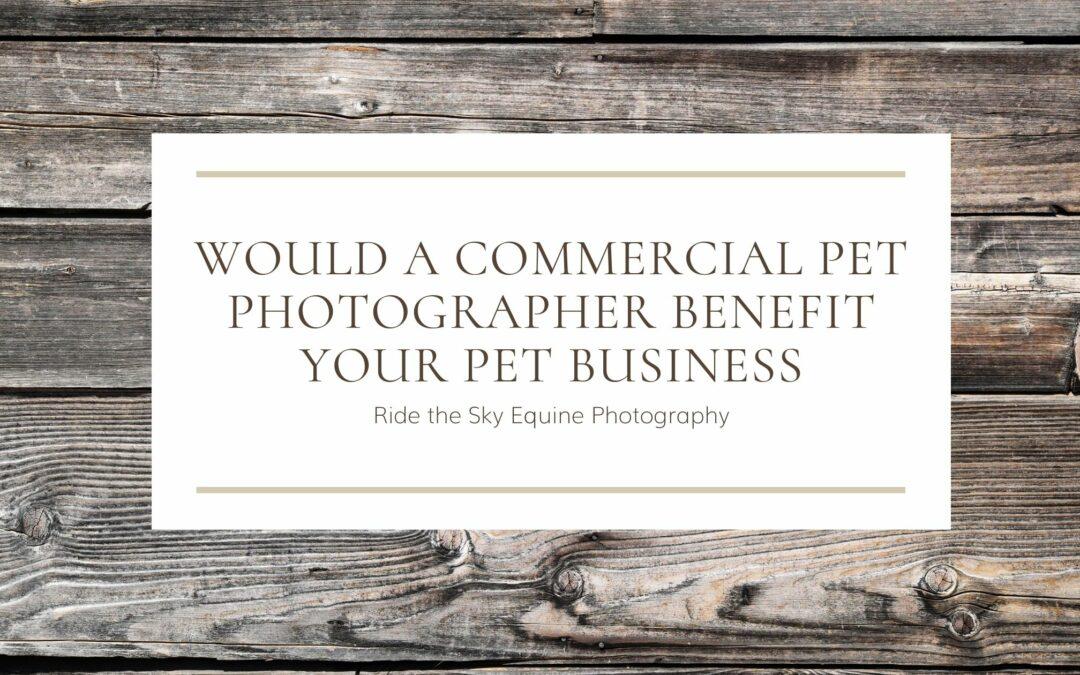 Would a Commercial Pet Photographer Benefit your Pet Business