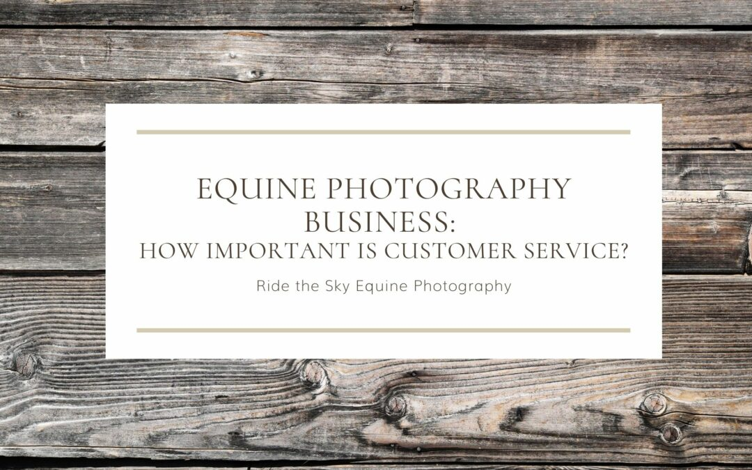 Equine Photography Business: Customer Service