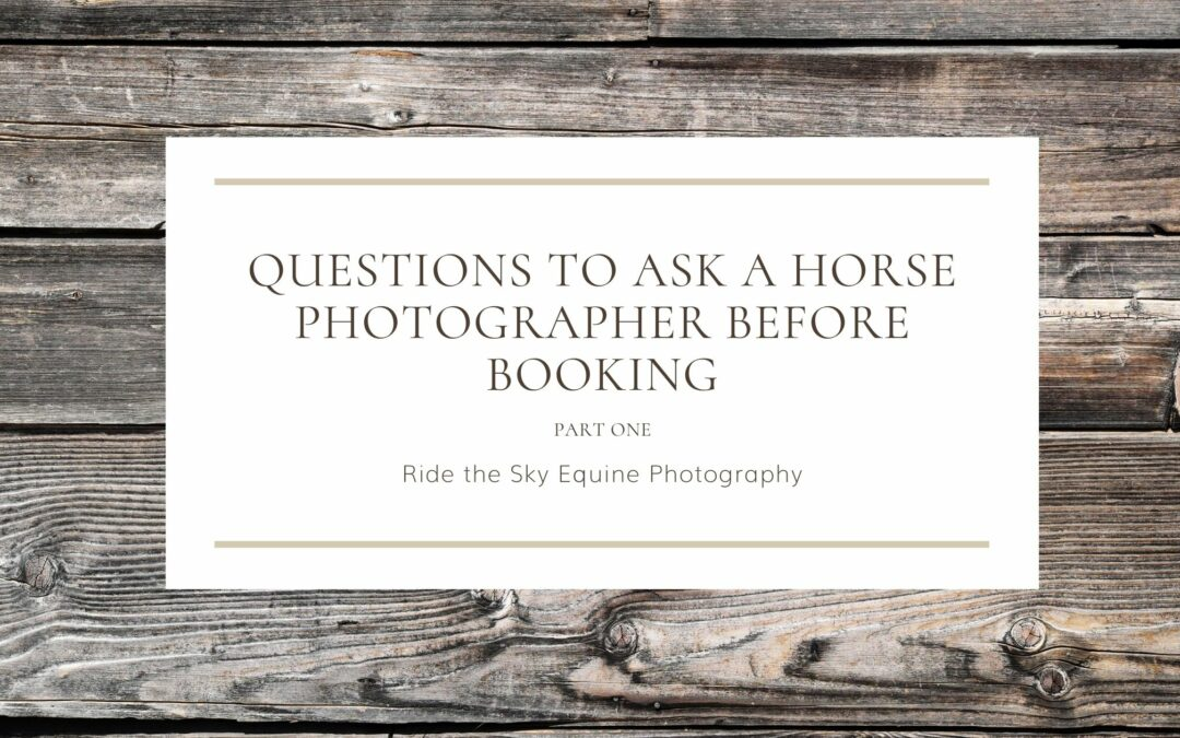 Questions to Ask a Horse Photographer Before Booking Part 1