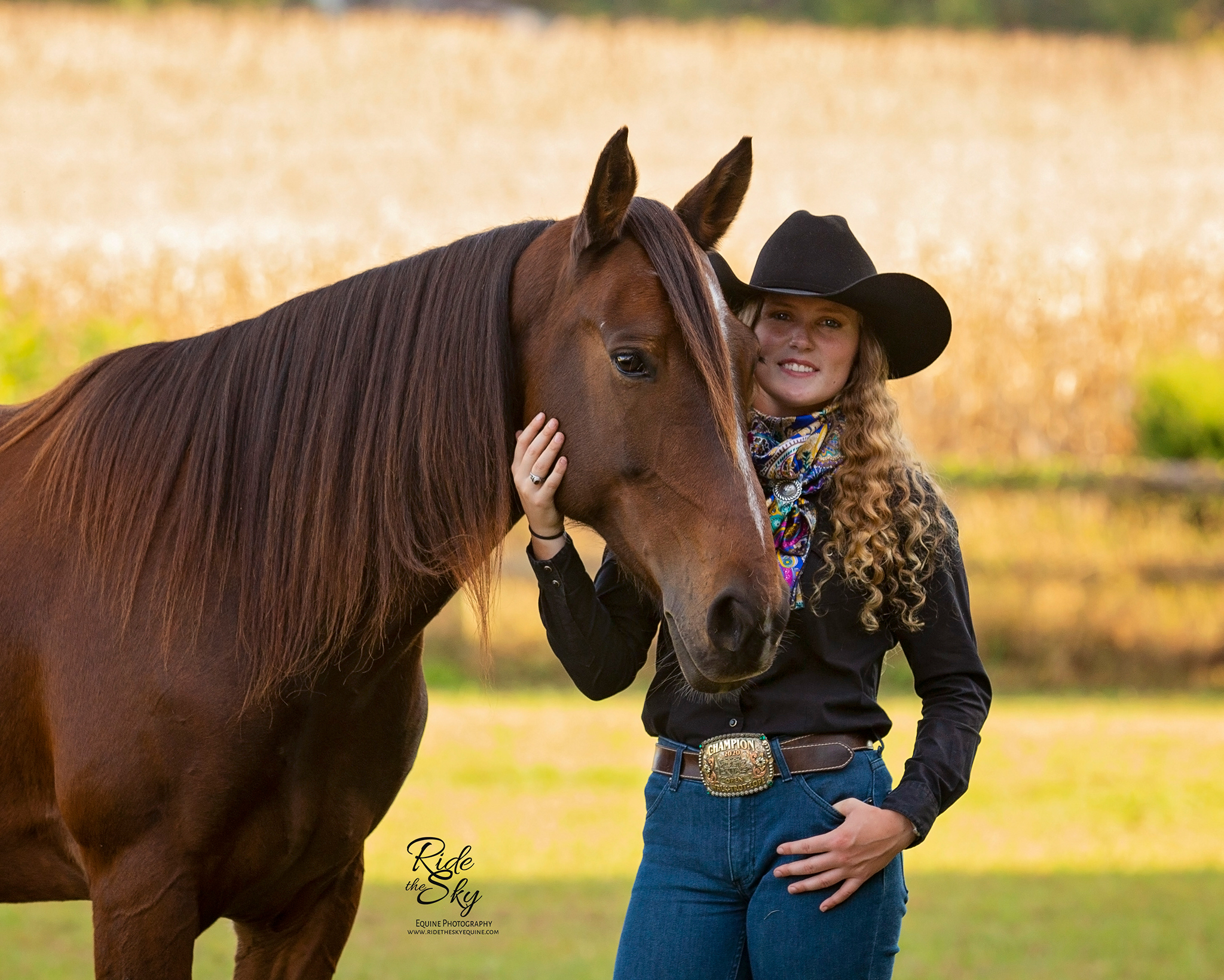 Girl and her horse pictured in Manchester Tennessee field